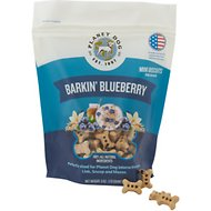 Planet Dog Barkin' Blueberry Mini Biscuit Dog Treat, 6-oz