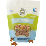 Planet Dog Turkey Gobbler Mini Biscuit Dog Treat, 6-oz