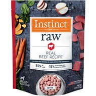 Instinct by Nature's Variety Frozen Raw Bites Grain-Free Natural Beef Recipe Dog Food, 6-lb bag