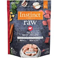 Instinct by Nature's Variety Frozen Raw Medallions Grain-Free Real Beef Recipe Dog Food, 3-lb bag