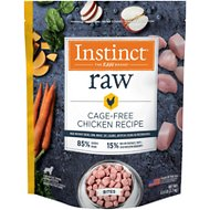 Instinct by Nature's Variety Frozen Raw Bites Grain-Free Cage Free Chicken Recipe Dog Food, 6-lb bag