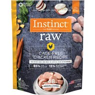Instinct by Nature's Variety Frozen Raw Medallions Grain-Free Cage Free Chicken Recipe Dog Food, 3-lb bag