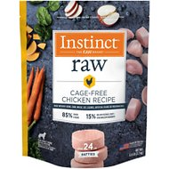 Instinct by Nature's Variety Frozen Raw Patties Grain-Free Cage Free Chicken Recipe Dog Food, 6-lb bag