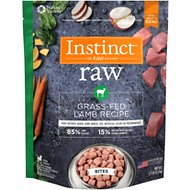 Instinct by Nature's Variety Frozen Raw Bites Grain-Free Grass Fed Lamb Recipe Dog Food, 2.7-lb bag