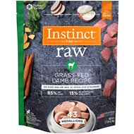 Instinct Frozen Raw Medallions Grain-Free Grass-Fed Lamb Recipe Dog Food, 2.7-lb bag