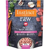 Instinct by Nature's Variety Frozen Raw Bites Small Breed Grain-Free Real Beef Recipe Dog Food, 3-lb bag
