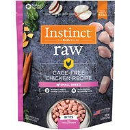 Instinct by Nature's Variety Frozen Raw Bites Small Breed Grain-Free Cage Free Chicken Recipe Dog Food, 3-lb bag