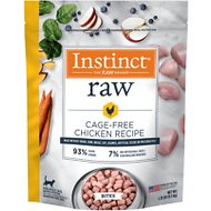 Instinct by Nature's Variety Frozen Raw Bites Grain-Free Cage-Free Chicken Recipe Cat Food, 1.25-lb bag