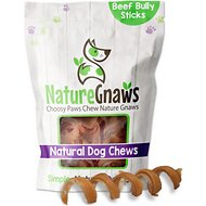 "Nature Gnaws Bully Stick Springs 7 - 8"" Dog Treats, 12 count"
