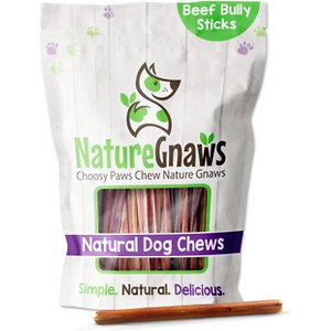 Nature Gnaws Small Bully Sticks 5 – 6″ Dog Treats, 15 count