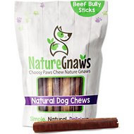 "Nature Gnaws Large Bully Sticks 5 - 6"" Dog Treats, 10 count"