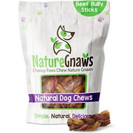 "Nature Gnaws Braided Bully Stick Bites 2 - 4"" Dog Treats, 15 count"
