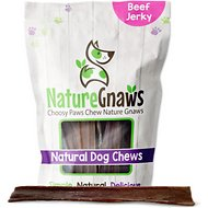 Nature Gnaws Beef Jerky Chews Dog Treats, 20 count, 9 - 10 in