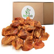 Nature Gnaws Large Pig Ears Dog Treats, 100 count