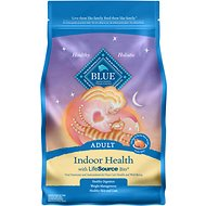 Blue Buffalo Indoor Health Chicken & Brown Rice Recipe Adult Dry Cat Food, 5-lb bag