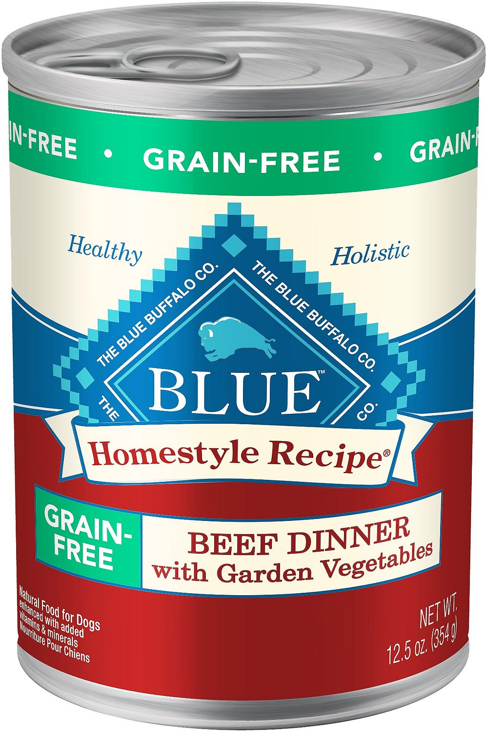 Blue Buffalo Homestyle Recipe Beef Dinner With Garden Vegetables Grain Free Canned Dog Food 12 5 Oz Case Of 12