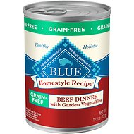 Blue Buffalo Homestyle Recipe Beef Dinner with Garden Vegetables Grain-Free Canned Dog Food, 12.5-oz, case of 12