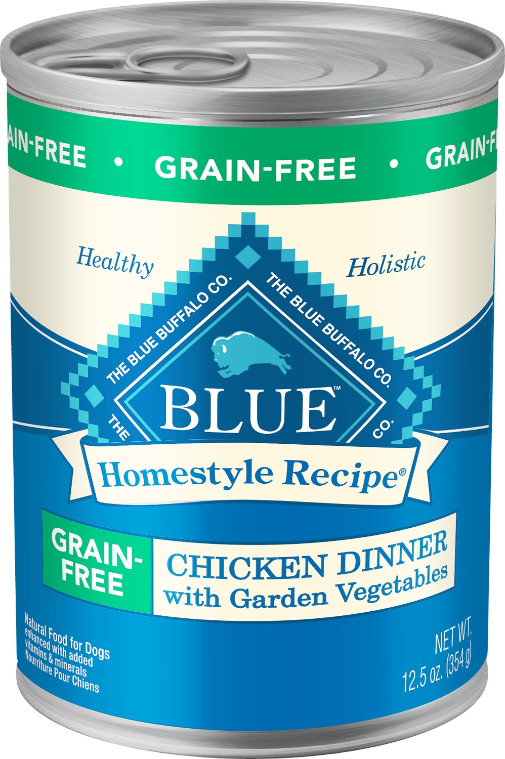 Blue Buffalo Homestyle Recipe Chicken Dinner With Garden Vegetables Grain Free Canned Dog Food 12 5 Oz Case Of 12