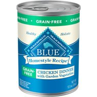 Blue Buffalo Homestyle Recipe Chicken Dinner with Garden Vegetables Grain-Free Canned Dog Food, 12.5-oz, case of 12