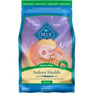 Blue Buffalo Indoor Health Chicken Recipe Adult Grain-Free Dry Cat Food, 4.5-lb bag