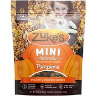 Zuke's Mini Naturals Pumpkins Turkey & Pumpkin Recipe Dog Treats, 5-oz bag