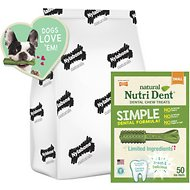 Nylabone Nutri Dent Natural Fresh Breath Dental Dog Chews, Small Breeds, 50 count