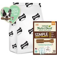 Nylabone Natural Nutri Dent Adult Filet Mignon Small Dental Chews, 50 count