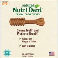 Nylabone Natural Nutri Dent Adult Filet Mignon Medium Dental Chews, 32 count