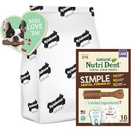 Nylabone Natural Nutri Dent Adult Filet Mignon Large Dental Chews, 16 count