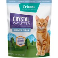 Frisco Summer Clean Scented Non-Clumping Crystal Cat Litter, 8-lb bag