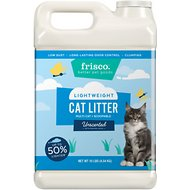 Frisco Lightweight Multi-Cat Unscented Clumping Clay Cat Litter, 10-lb jug