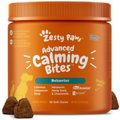 Zesty Paws Stress & Anxiety Calming Bites with Suntheanine & Melatonin Turkey Flavor Soft Chews Dog Supplement