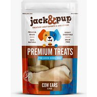 Jack & Pup Cow Ear Dog Treats, 15 count