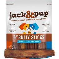 "Jack & Pup Thick Bully Stick 6"" Dog Treats, 5 count"