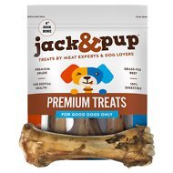 "Jack & Pup Roasted Beef Shin Bone 8"" Dog Treats, 3 count"