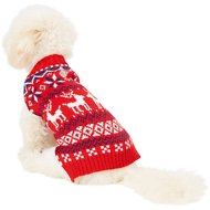Frisco Dog & Cat Fair Isle Sweater, Red, X-Small
