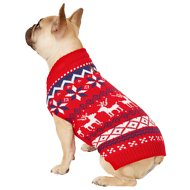 Frisco Dog & Cat Reindeer Fair Isle Sweater, Medium