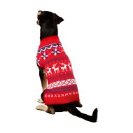 Frisco Dog & Cat Reindeer Fair Isle Sweater, Large
