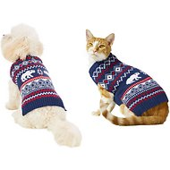 Frisco Dog & Cat Polar Bear Fair Isle Sweater, X-Small