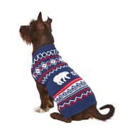 Frisco Dog & Cat Polar Bear Fair Isle Sweater, Medium