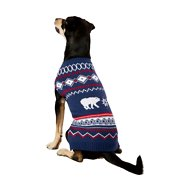 Frisco Dog & Cat Polar Bear Fair Isle Sweater, Large