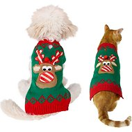 Frisco Dog & Cat Holiday Reindeer Sweater, X-Small
