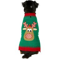 Frisco Dog & Cat Holiday Reindeer Sweater, X-Large