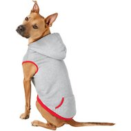 Frisco Dog & Cat Hoodie With Trim, Heather Gray/Red, X-Large