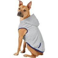 Frisco Dog & Cat Hoodie With Trim, Heather Gray/Navy, X-Large