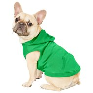 Frisco Dog & Cat Basic Hoodie, Green, Medium