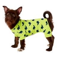 Frisco Whale Print Dog & Cat Lightweight Jersey PJs, Medium