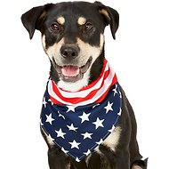Frisco Dog & Cat 4th of July Stars & Stripes Bandana, Medium/Large