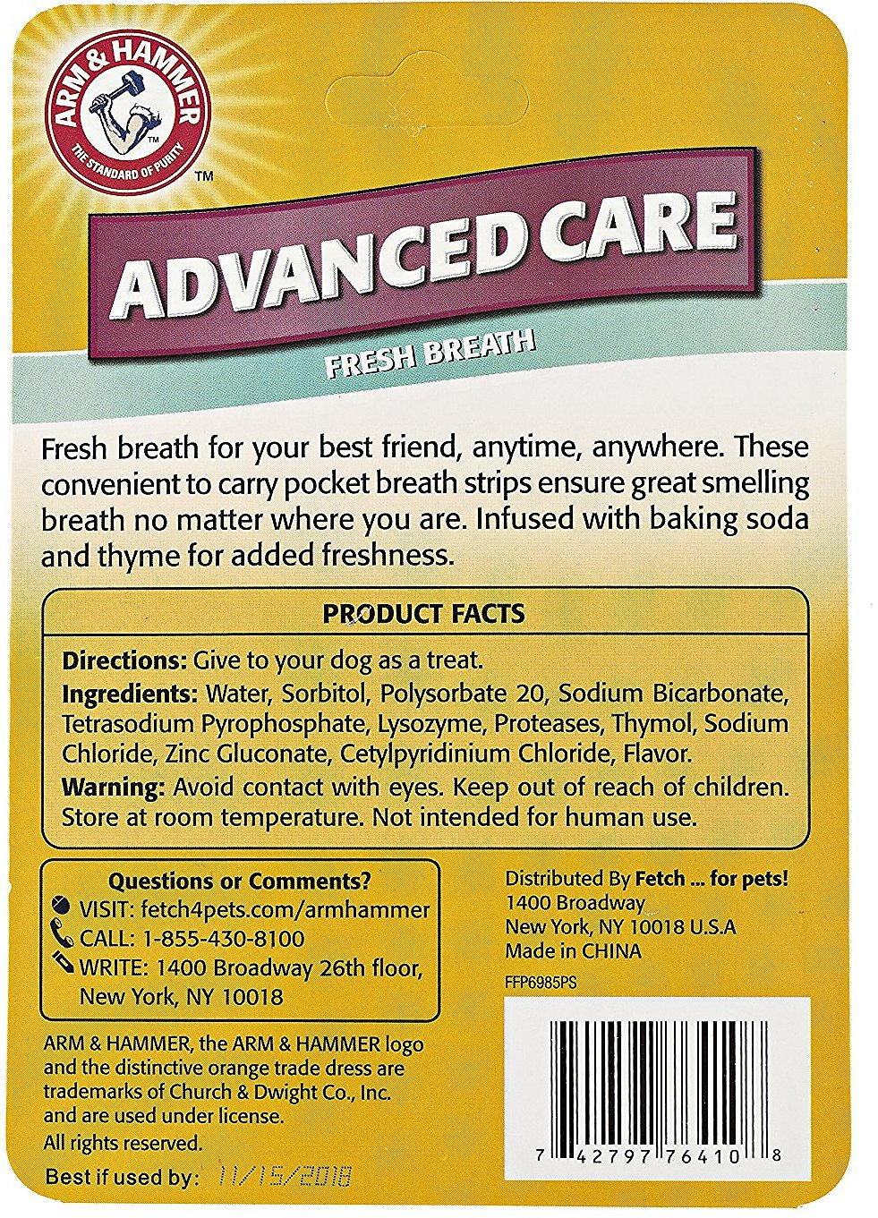 Arm & Hammer Advanced Care Mint Flavor Dog Breath Strips, 24 count