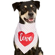 Frisco Dog & Cat Love Heart Bandana, Medium/Large